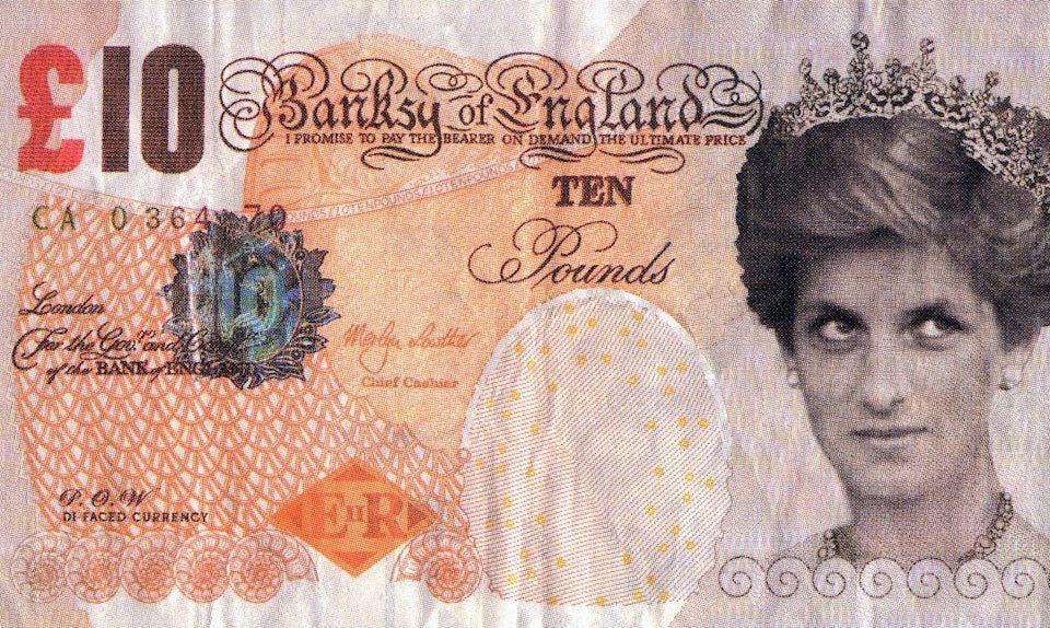 Banksy's Donates Fake 'Di-faced Tenner' Banknote to British