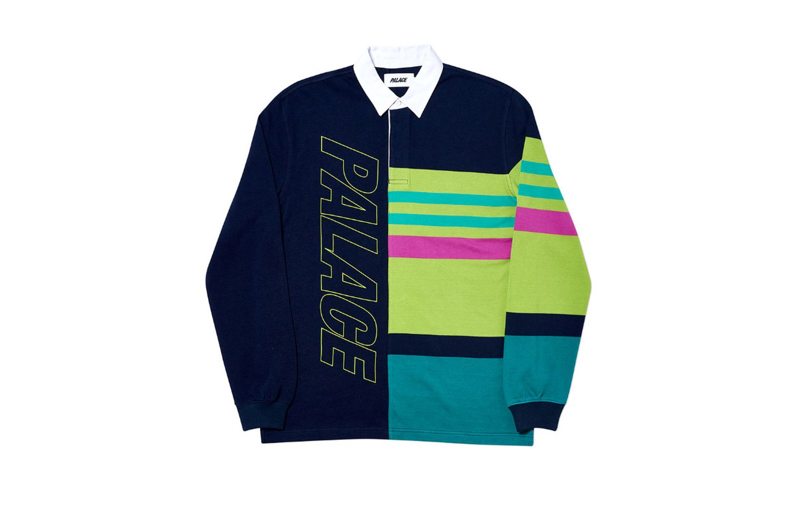 Palace 2019 Autumn Rugby navy green front 2076 ADJUSTED fw19