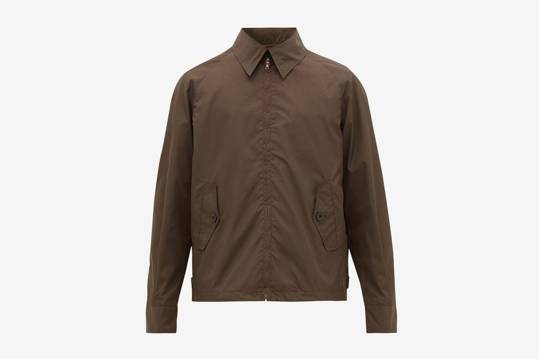 Shortfin Point-collar Blouson Jacket