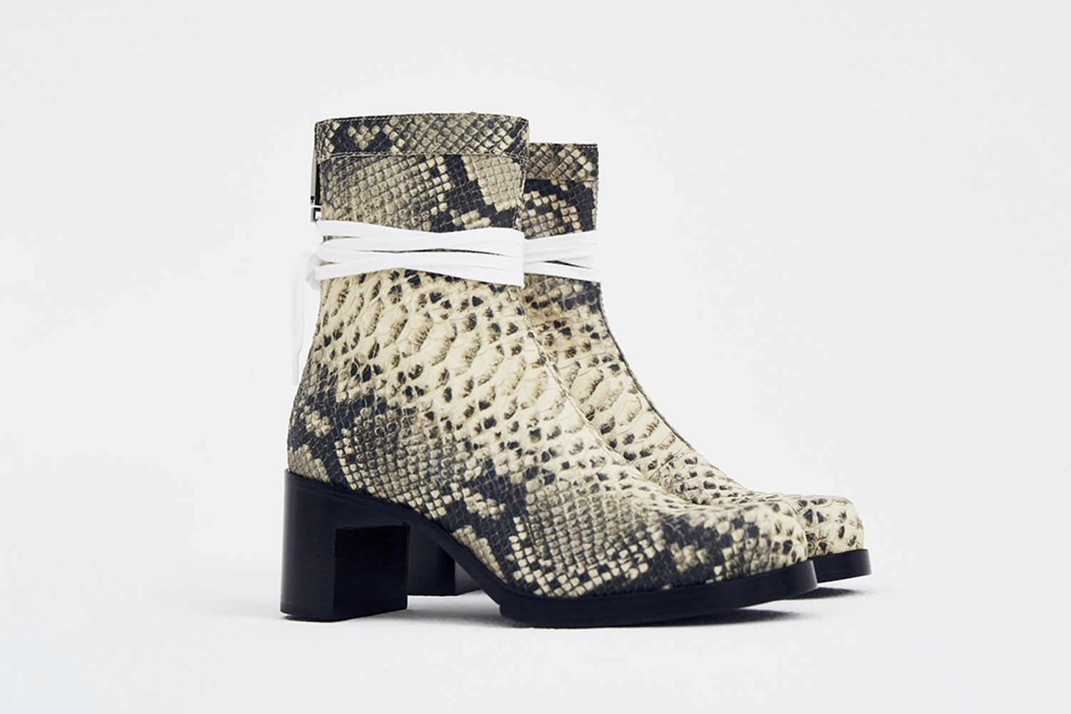 Faux Snakeskin Bowie Boots