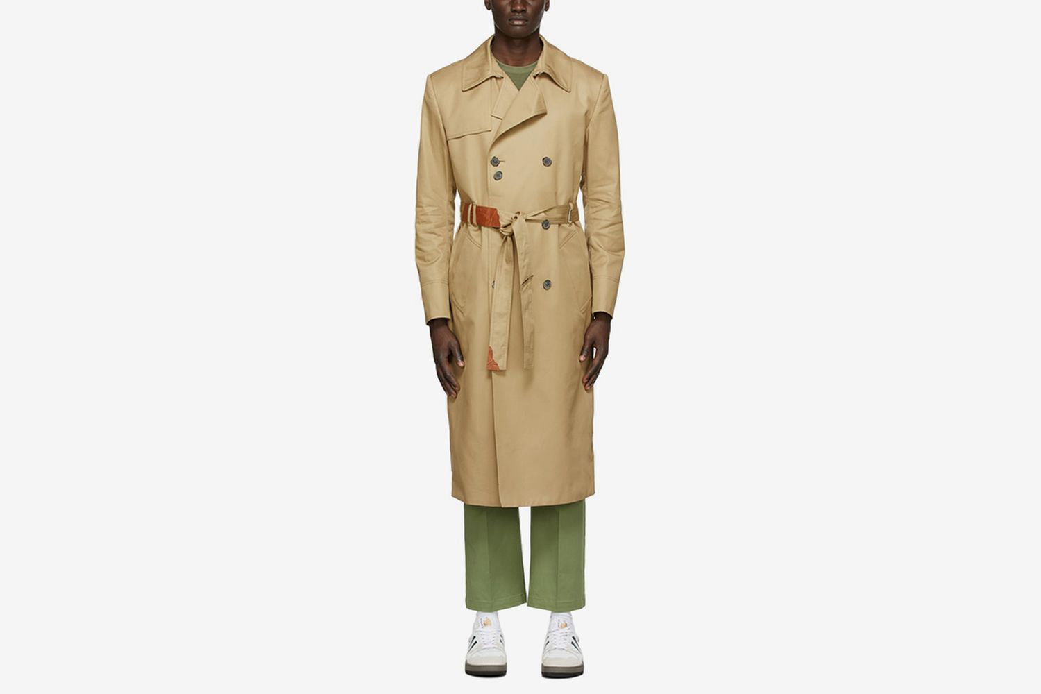 Beige Torn label Trench Coat