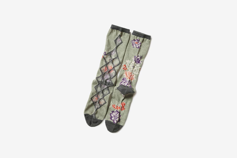 Flower Sheer Socks