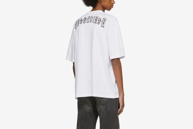 Tattoo Embroidered Regular Fit T-Shirt