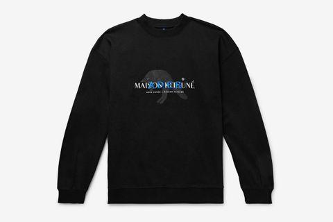 Oversized Logo-Detailed Cotton-Blend Jersey Sweatshirt
