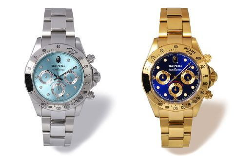 Bape S Bapex Type 3 Watch Returns In Luxe Gold Silver Selectism