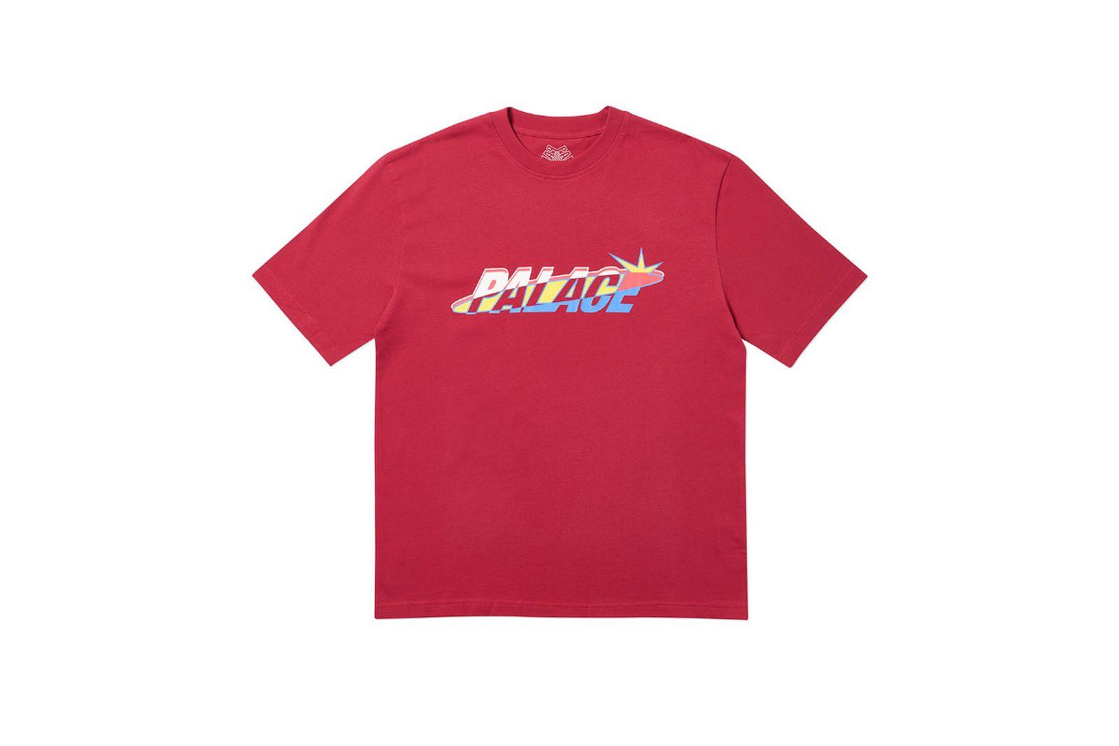 Palace 2019 Autumn T Shirt Lique dark red