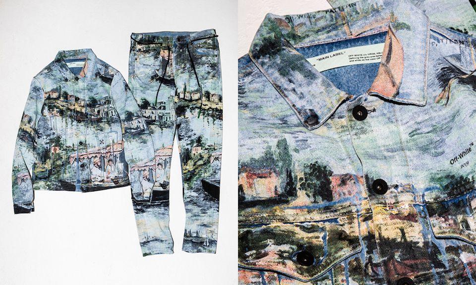 Off White Debuts Impressionist Inspired Denim Jacket Pants