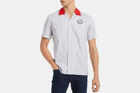 Classic-Fit Yarn-Dyed Stripe Twill Garage Shirt