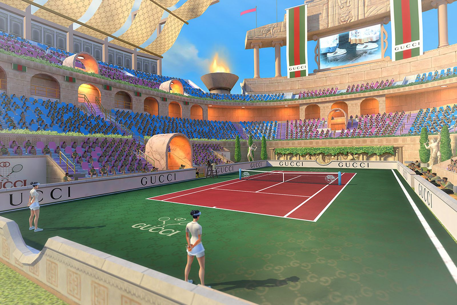 An image depicting gameplay from Tennis Clash