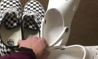 The Internet Is Now Throwing Vans Sneakers & Crocs in the Air for Its Latest Viral Challenge
