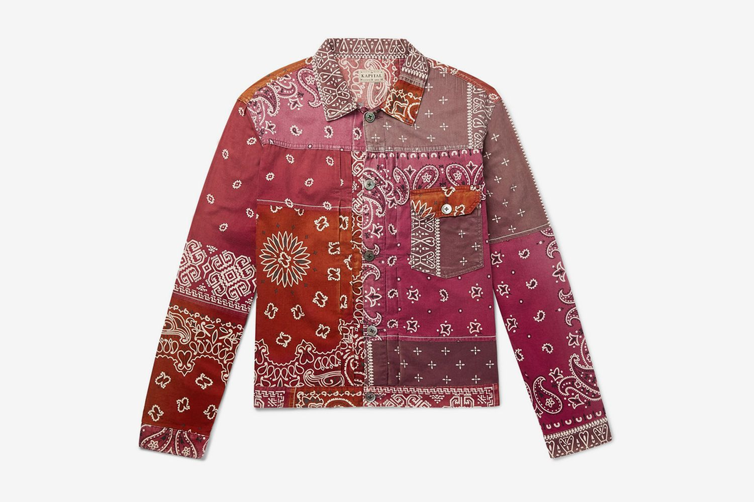 Patchwork Bandana-Print Cotton-Blend Jacket