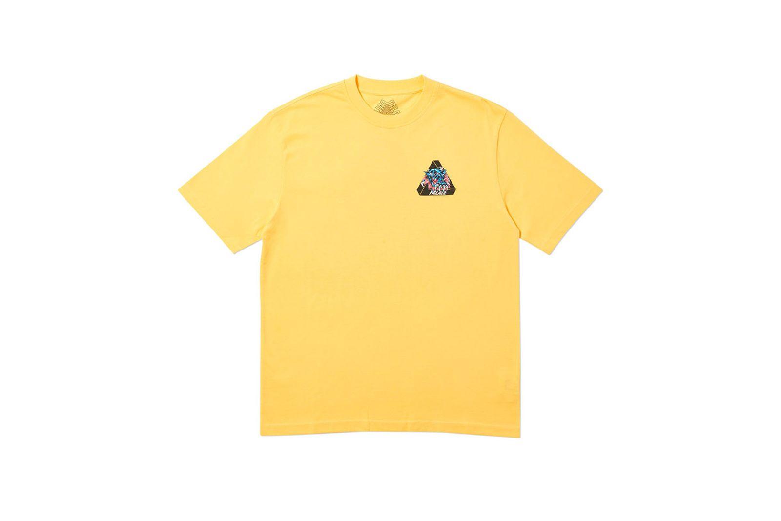 Palace 2019 Autumn T Shirt Ripped yellow front