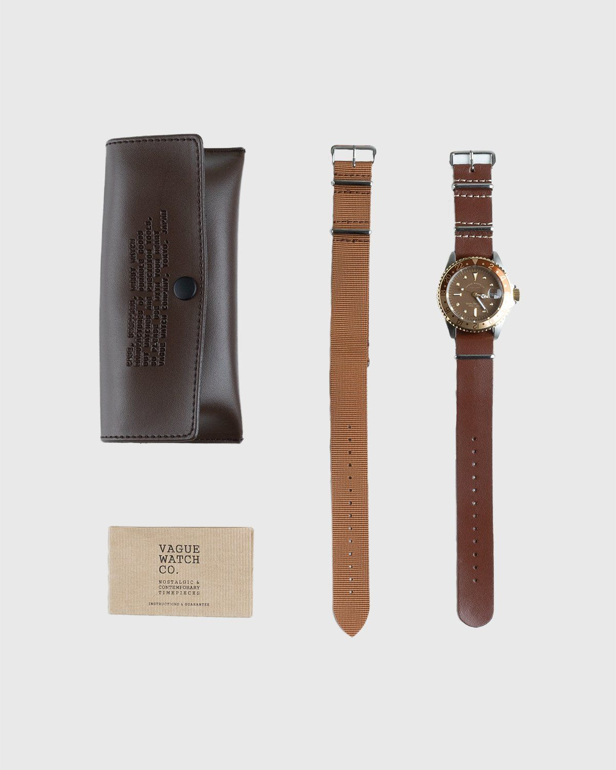 Vague Watch Co. – GMT Brown - Image 4