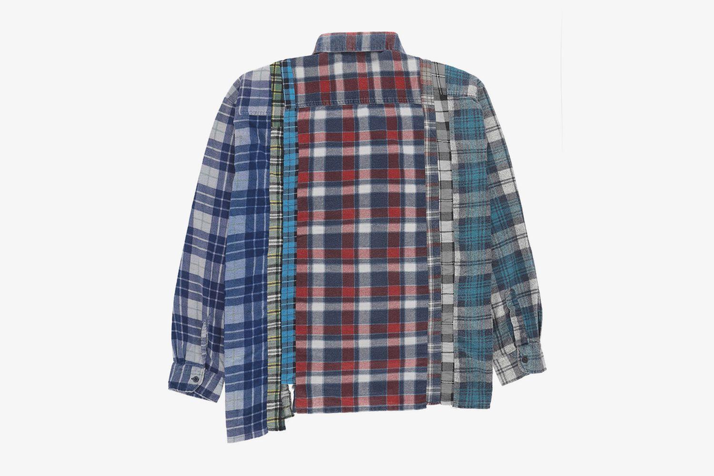 Wide 7 Cuts Flannel Shirt