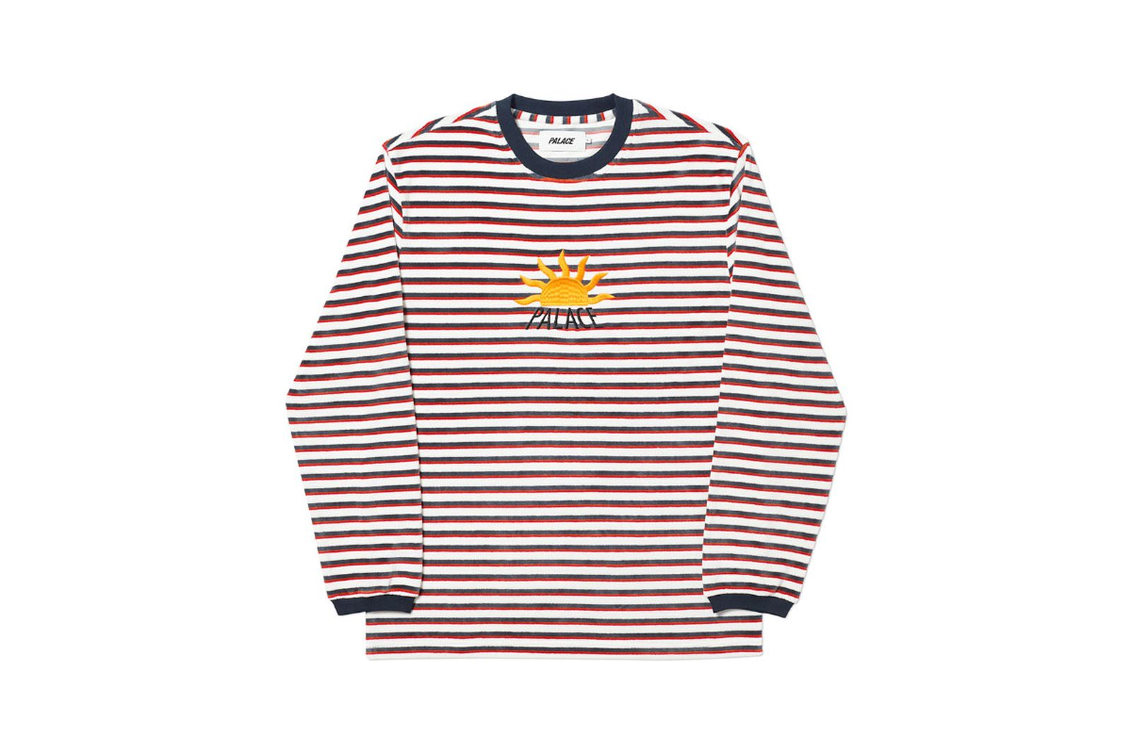 Palace 2019 Autumn Crew Optimo white red blue front fw19