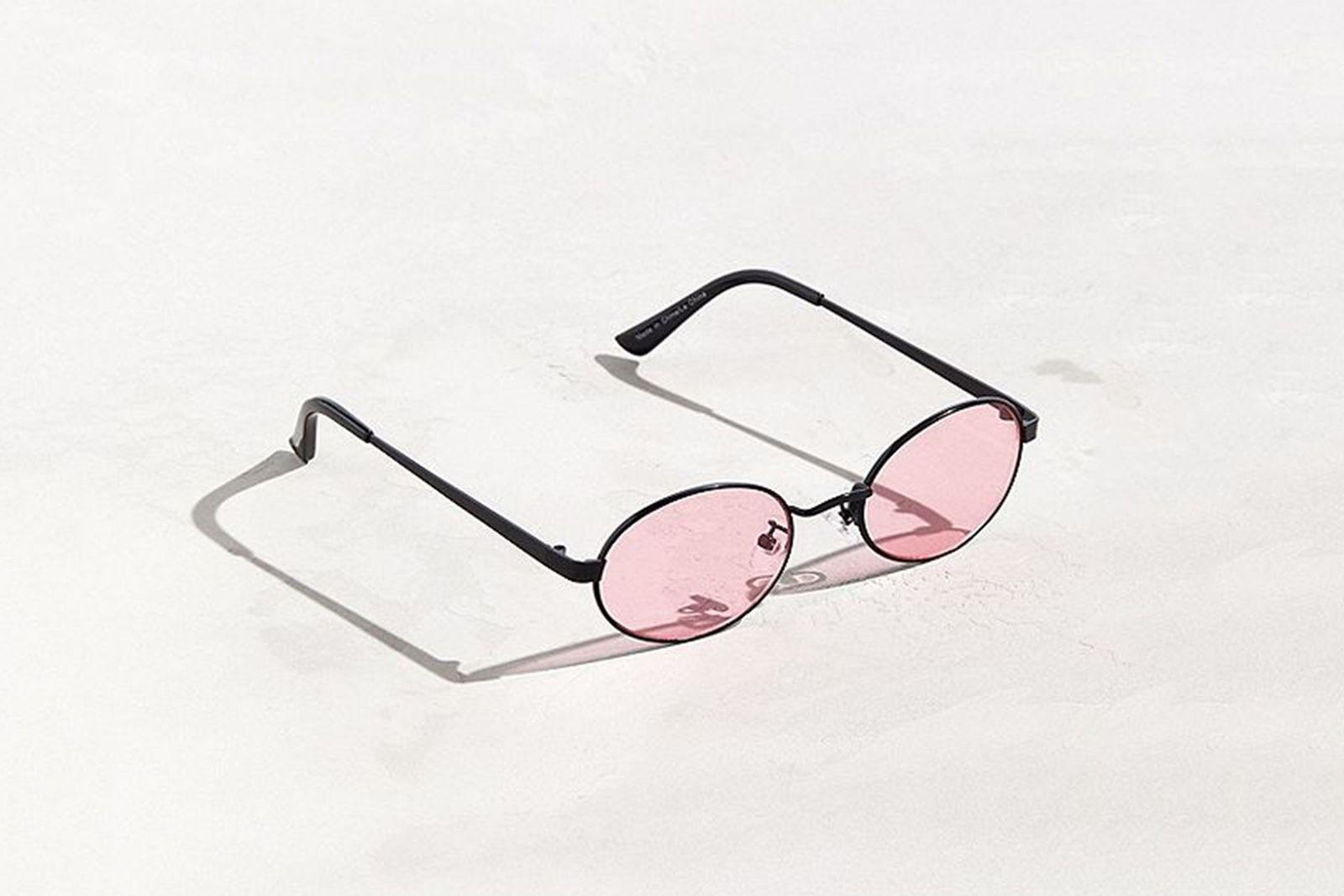 UO Small Metal Oval Sunglasses