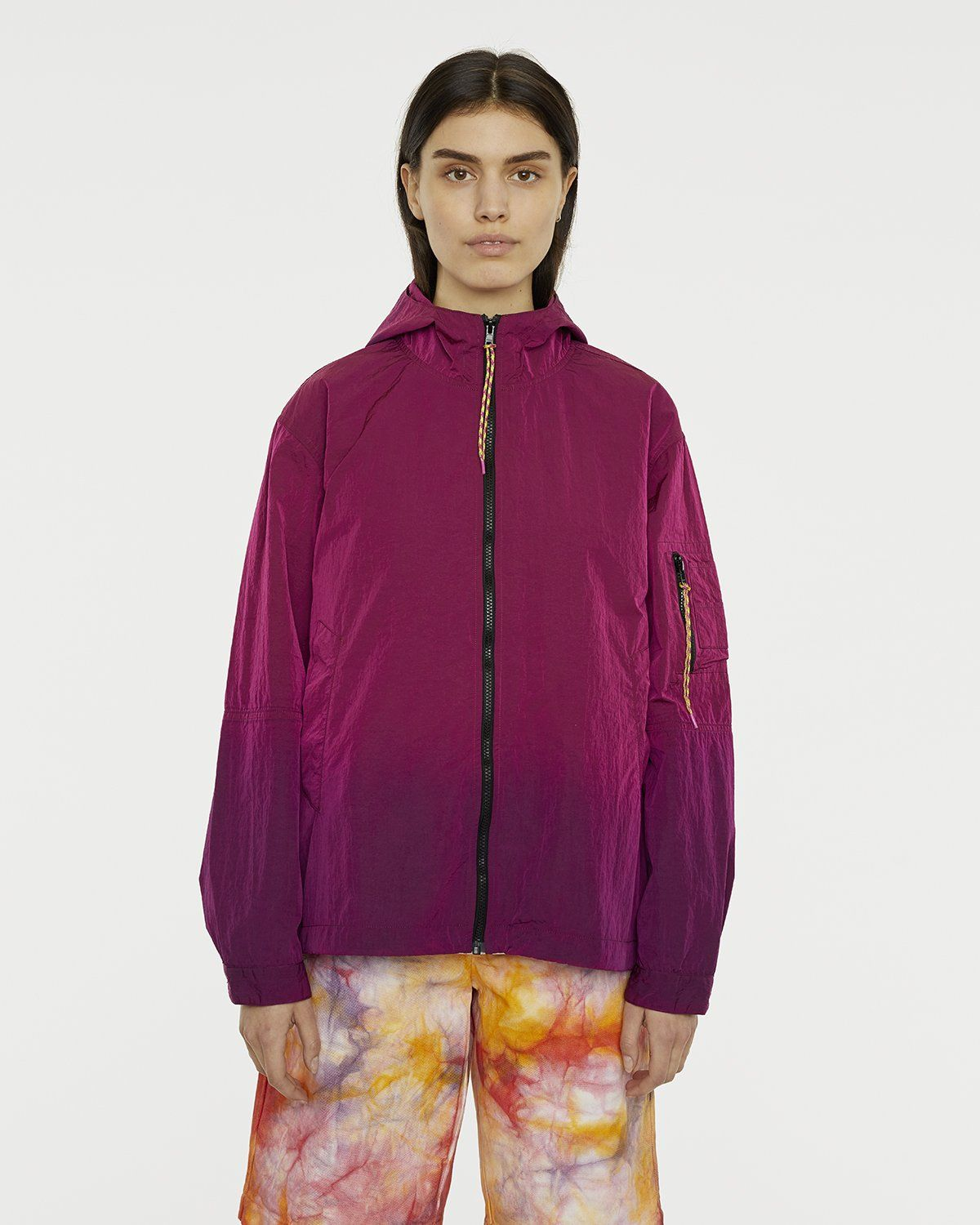 Aries — Ombre Dyed Tech Jacket Fuchsia - Image 4