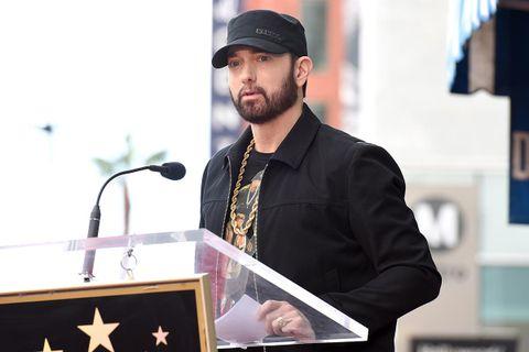 Eminem speaking