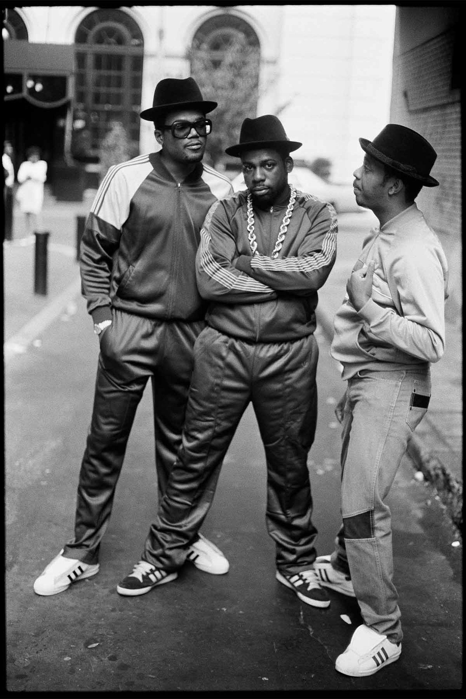 Run-DMC members, from left: Darryl McDaniels, Jam Master Jay, and DJ Run.