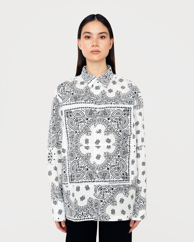 Miyagihidetaka Bandana Shirt White - Image 4