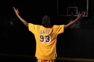 1dd15b70cfc Take a Closer Look as Snoop Dogg Models BAPE's NBA Collab