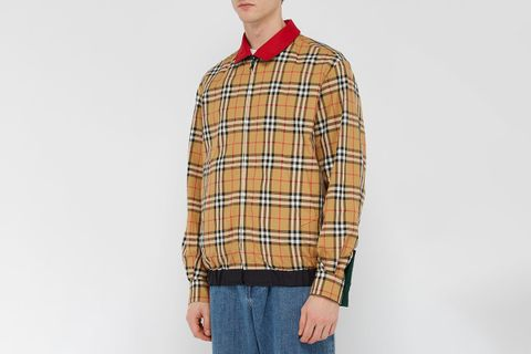 Reversible Vintage Check Harrington Jacket