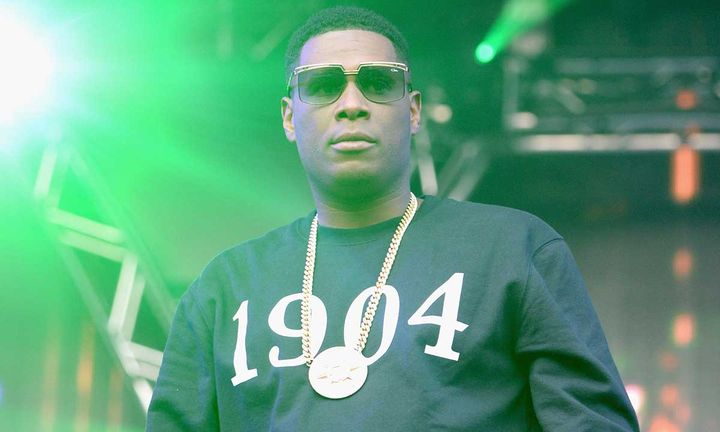 Jay Electronica performing on stage