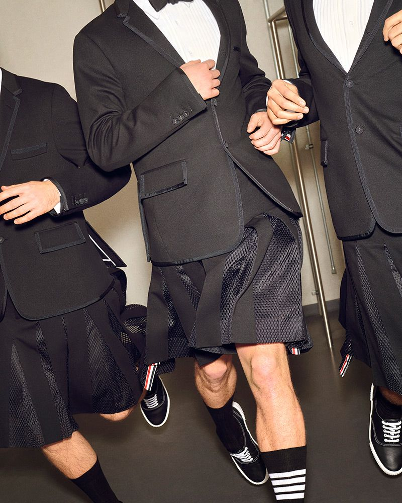 Men Want to Wear YEEZY Slides and Thom Browne Skirts