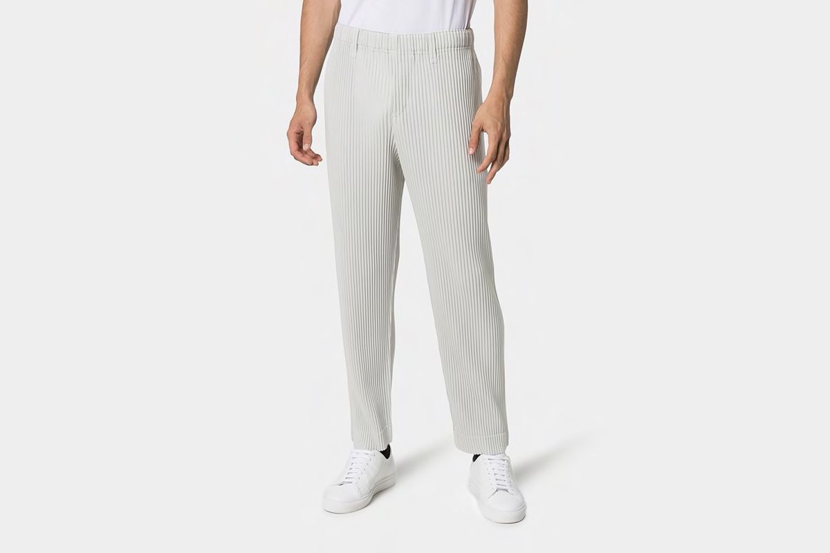 Mid-Rise Straight Leg Trousers