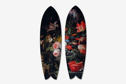 Diptych Flowers 2 Surfboards