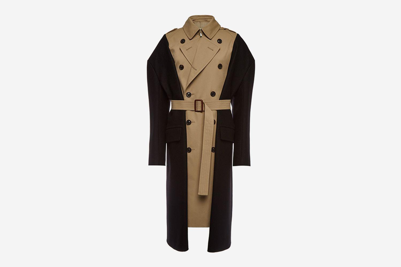 Mixed Trench Coat