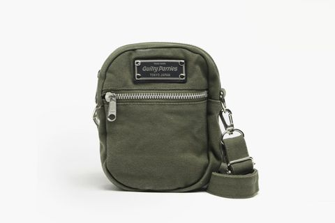 Washed Canvas Shoulder Bag