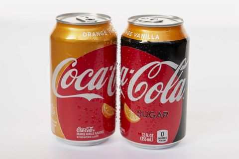 orange vanilla coke coca cola