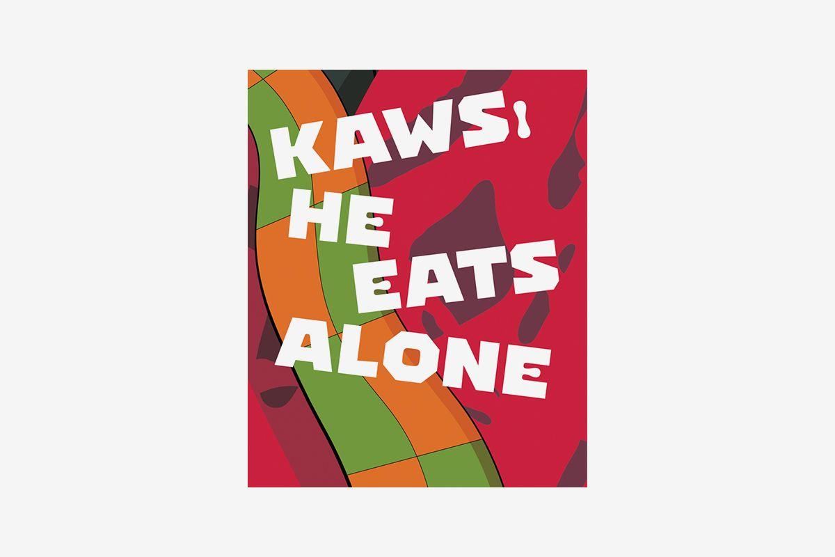 KAWS: He Eats Alone book