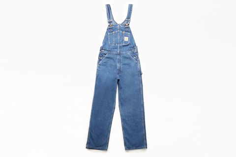 Washed Denim Workwear Overalls