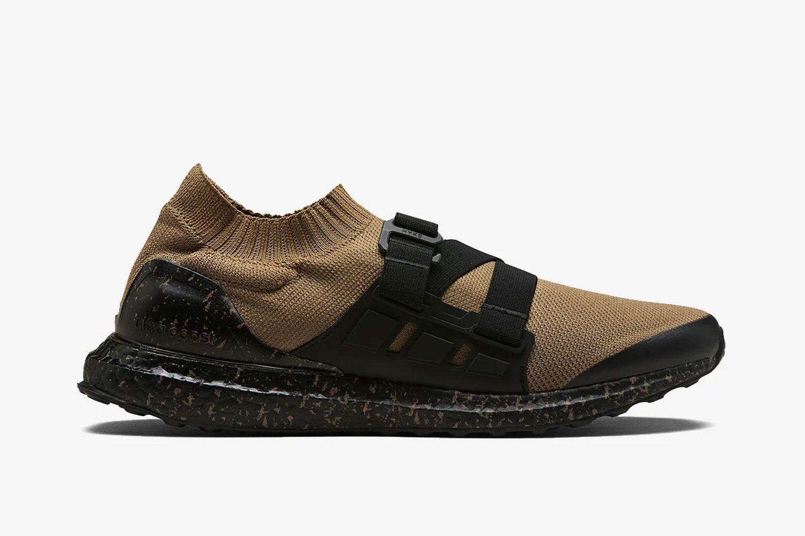 brown and black Hyke x adidas Ultraboost aH001