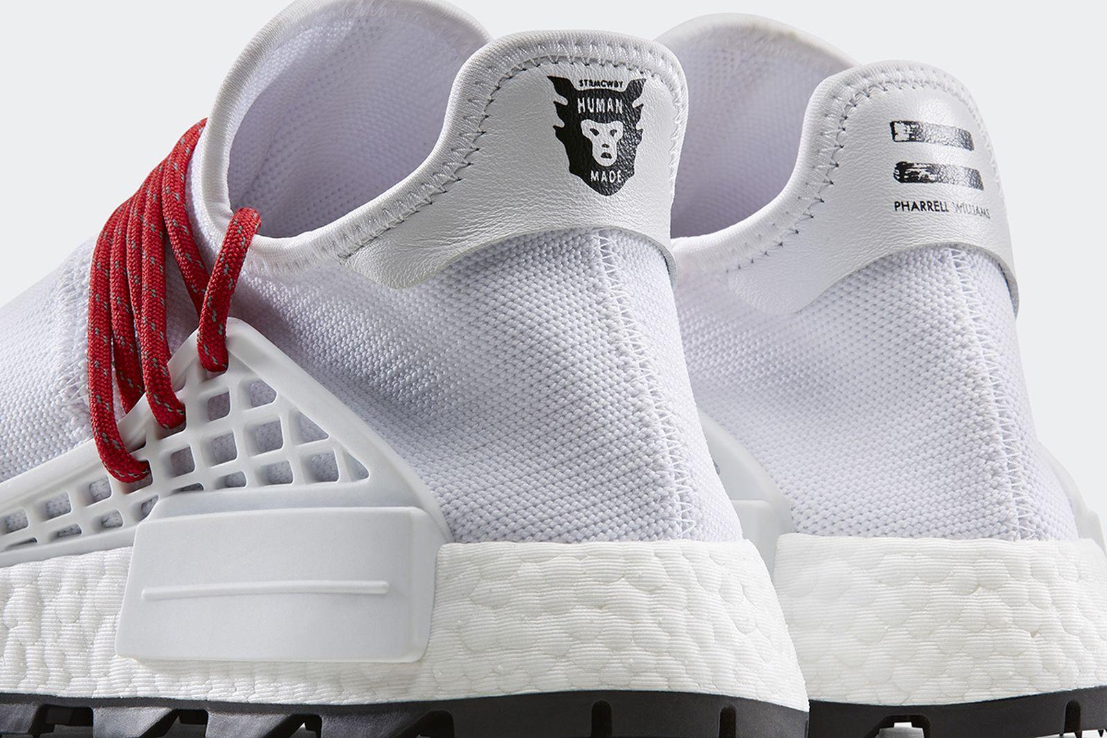 pharrell nigo adidas originals sneaker collection release date price Pharrell Williams human made human race
