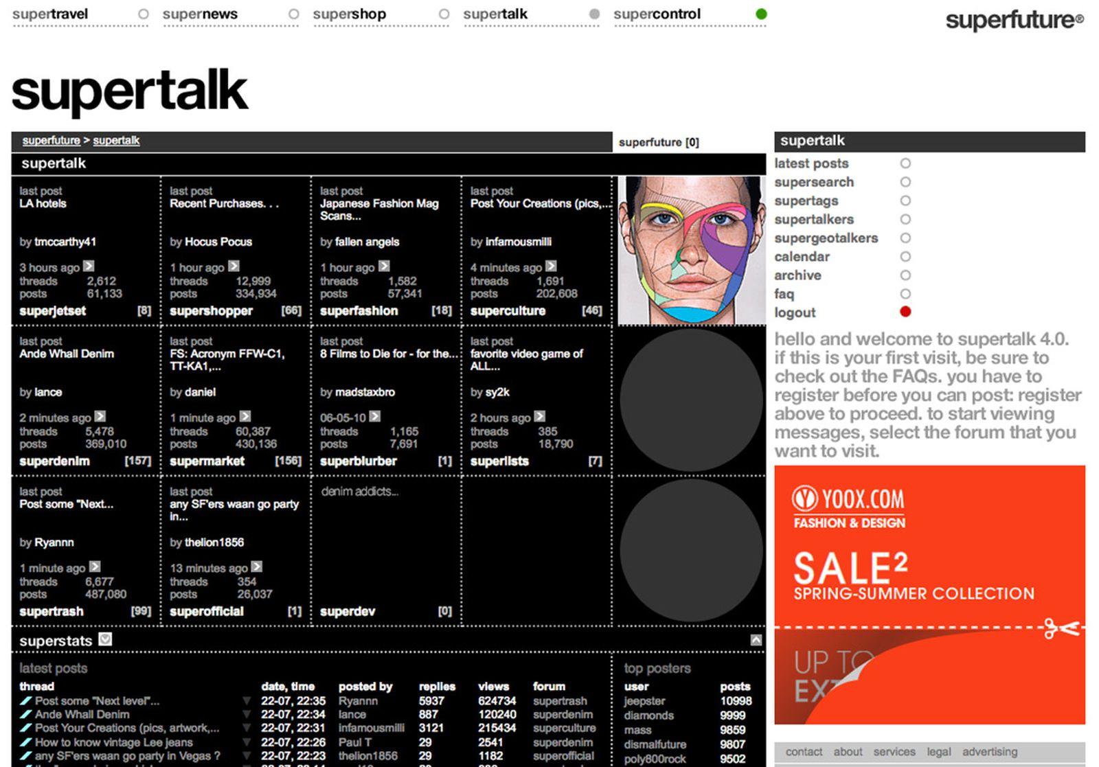 superfuture website screenshot archive