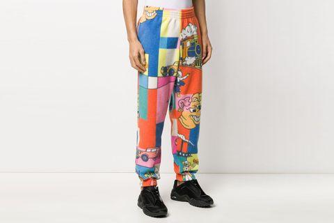 Comic Print Fleece Track Pants
