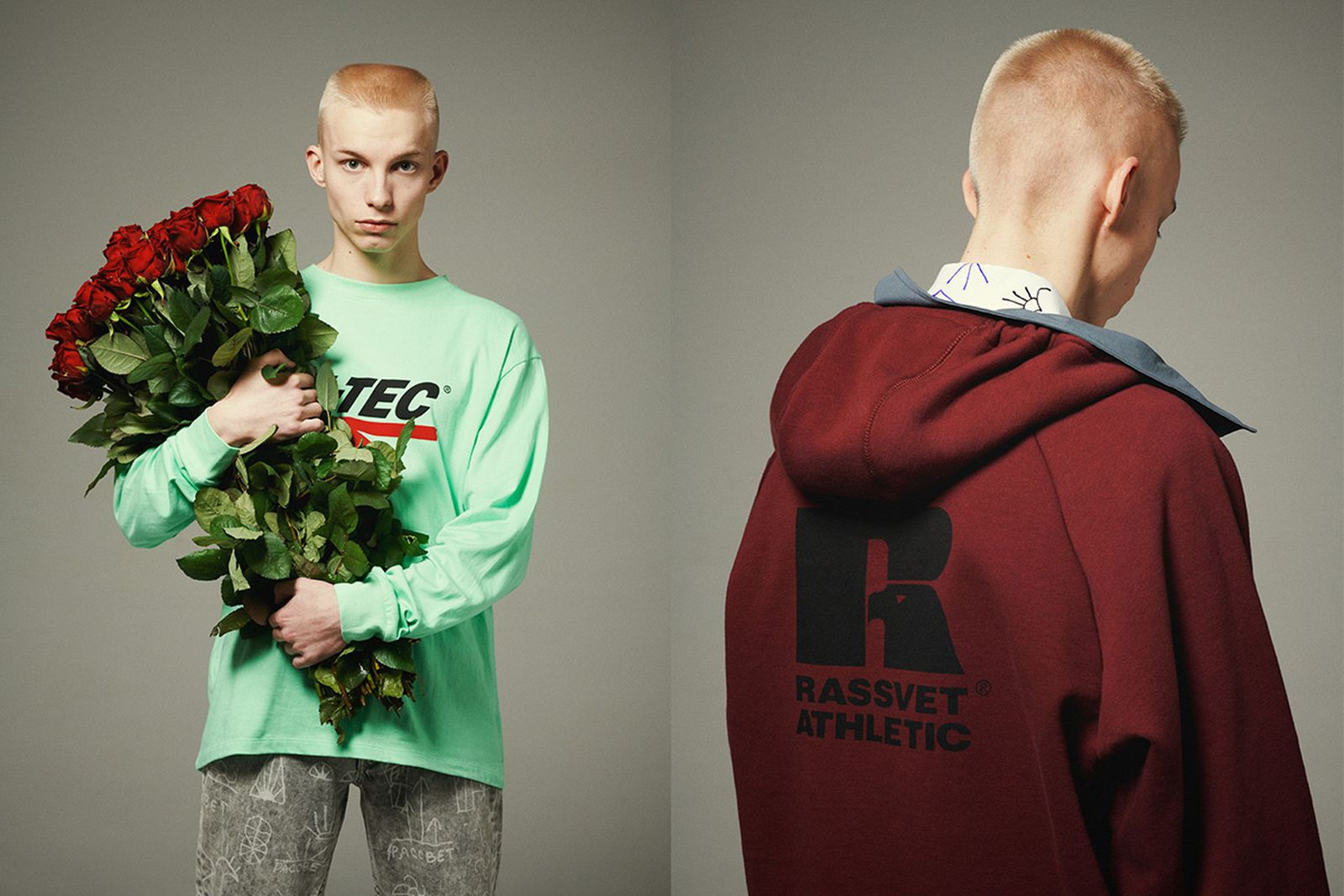 paccbet hi tec sportswear capsule collection Gosha Rubchinskiy Rassvet Russell Athletic