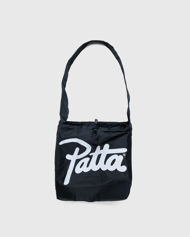 PATTA – Diamond Packable Tote Bag Black - Image 1