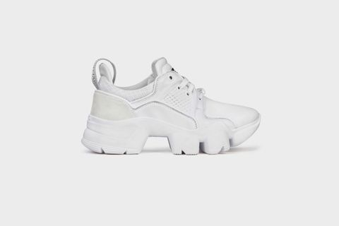 Women's White Low JAW Sneaker in Neoprene and Leather White Women