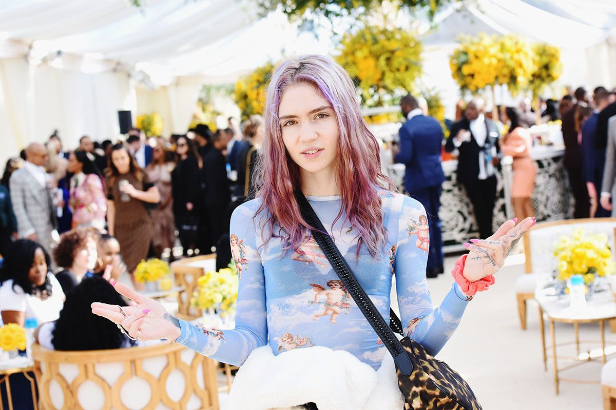Grimes at Roc Nation brunch