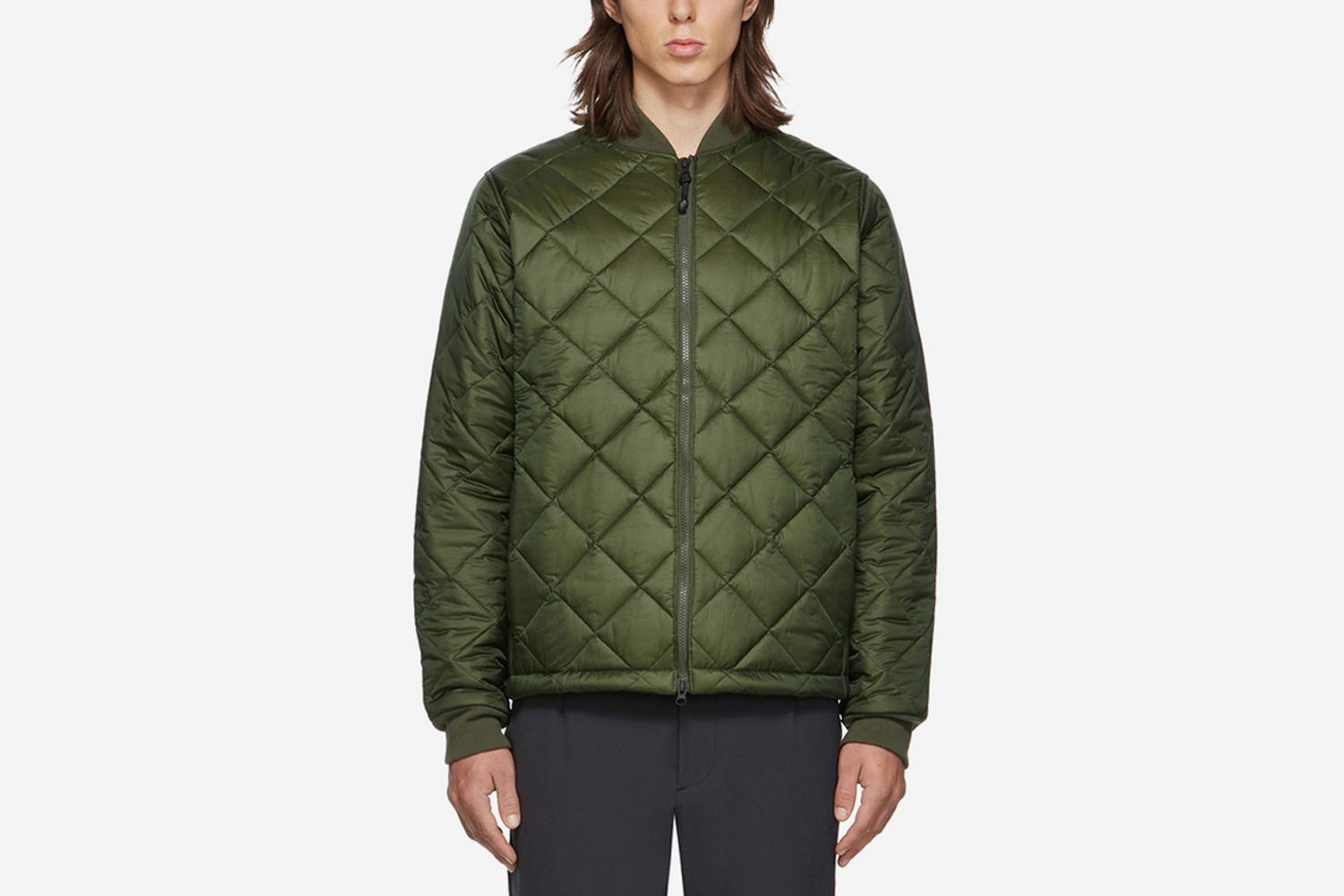 Light Quilted Bomber Jacket