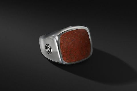 Exotic Stone Signet Ring w/ Red Agate