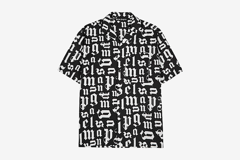 Broken Monogram Monochrome Cotton Shirt