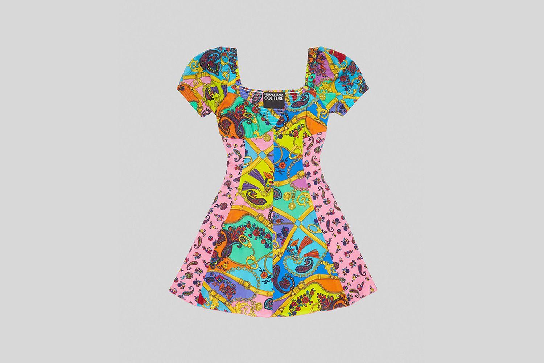 Mixed Print Mini Dress