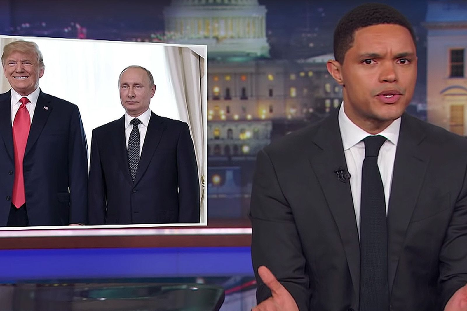 late night hosts trump putin helsinki Late Night with Jimmy Fallon Late Night with Seth Meyers donald trump