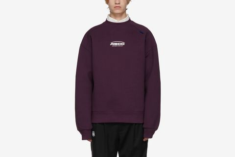 Purple ASCC Unbalanced Yoke Sweatshirt