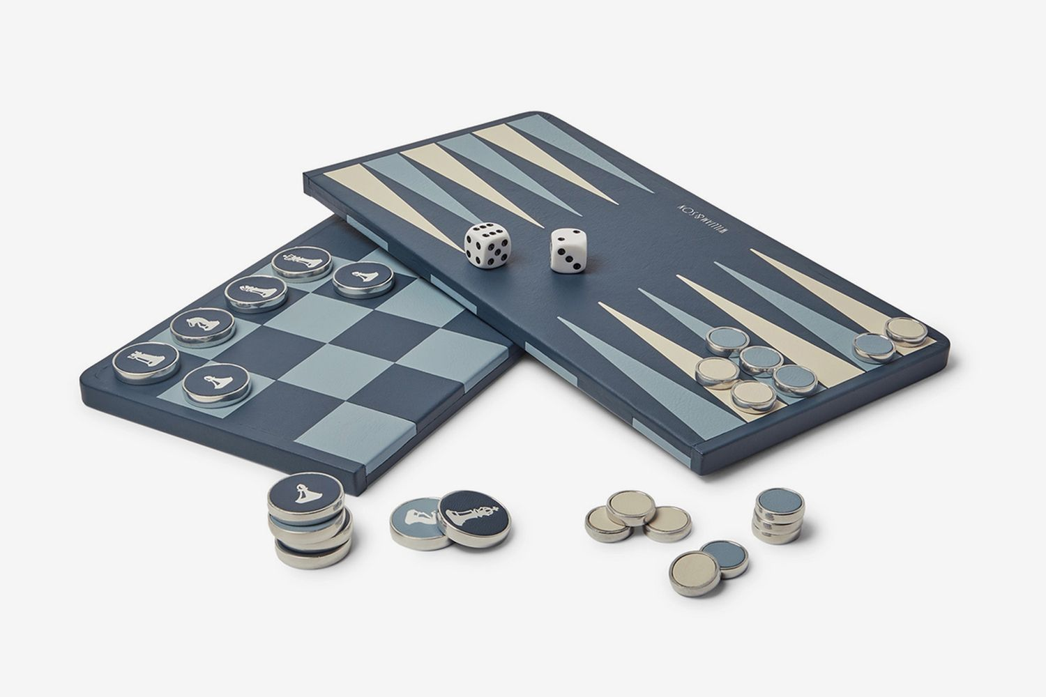 Reversible Leather Backgammon and Chess Board